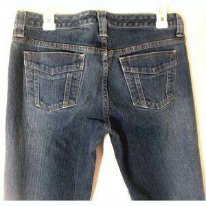 Bannana Republic Jeans Sz 10 Boot Cut Dark Wash